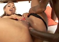 Ebony babe Krystal Wett is in need of a huge black boner