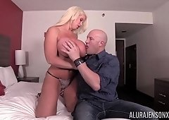 Riding a fat pecker pleases Alura Jenson more than anything