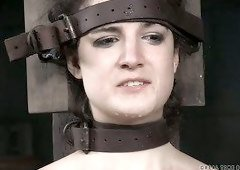 Endza Adair is tied up tightly that she has no chance of leaving the dungeon