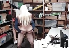 Blonde In Trouble For Stealing