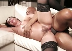 Emotional bitch Sheena Ryder lets BBC penetrates her twat in spoon pose