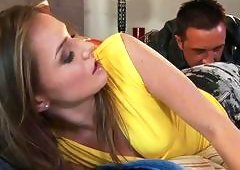 Playful Tori Black gets her ass drilling