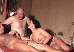Wild MMF threesome with Morgan Lovesex who is insanely horny