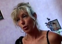 Dazzling buxomy experienced lady is making a perfect Blowjob
