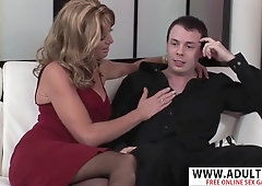 Adorable New Mama Liz Summers Rides Young Dick