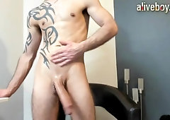 Big Cock Guy Jacking Off and Cumming