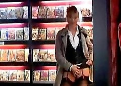 Good blowjob in the video store