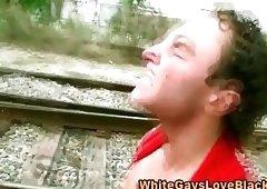 Badass Interracial Gangster Get A Cumshot
