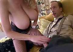 Kelly Madison cannot resist her handsome partner's cock