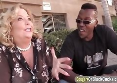 Busty mature pussy in couch doggy fuck with a big black hard young cock making her cum