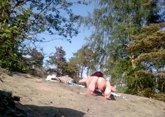 Russian nudist woman gets spied on at the beach