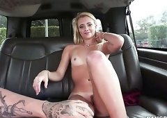 Riley Star asks this guy to pay her money so he can fuck her in his van