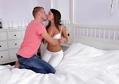 Stiff cock is all barely legal Angel A craves up her warm pussy