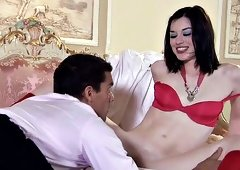 Stoya in red for a change