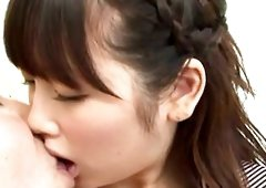 Asian babe Rico Yamaguchi is a great kisser and cock sucker