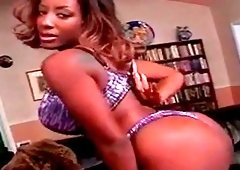 Ebony babe best blowjob and rimjob