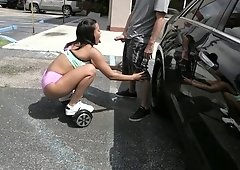 Luna Star takes it deep after some public teasing on the hoverboard