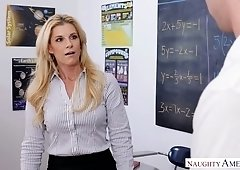 Stunning teacher India Summer is having quickie with one of her students