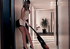 Sexy Carol Vega is a housemaid who loves fucking her boss