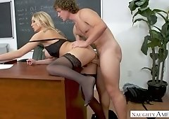 Stunning teacher Kenzie Taylor is fucking her favorite student