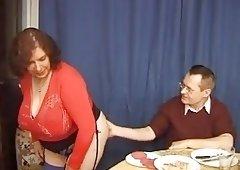 BBW granny Olga and her big sexy butt