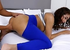 Kitty Catherine pov blowjob & fuck with ripped yoga pants