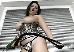Curvy body beauty is perfect in a tight corset