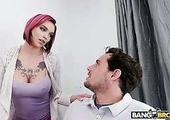 Pink haired lusty nympho Anna Bell Peaks is happy to ride firm cock