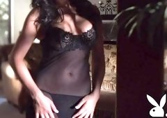 Alluring brunette female in lingerie porn video