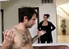Admirable dusky Joanna Angel acting in a sperm shot porn movie