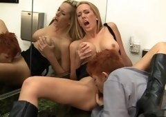 Best pornstars Lily Cade and Brett Rossi in crazy masturbation, lesbian adult clip