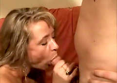 Blonde milf makes him cum 3 times