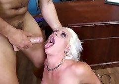 Blonde secretary is often fucking her boss