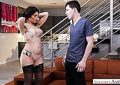 Amazing hot and charming Valentina Nappi thirsts for some good doggy