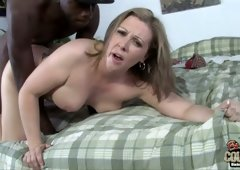 Chubby Caucasian MILF Keira Kensley fucked brutally