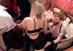 Anal Slut Slaves Serve a BDSM Swingers Orgy