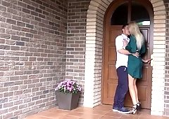 Slender blonde Karol Lilien is making love like a graceful seductress