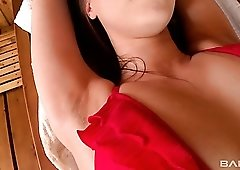Beata Undine is a horny lesbo who helps her girlfriend to shave her private parts