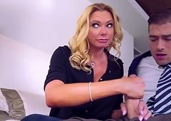 Briana Banks is a MILF who teaches Taylor Sands how to fuck properly