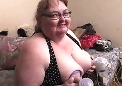 Opinion, granny machine milk my tits are mistaken