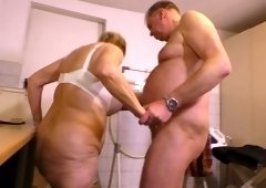 Pee fetish old dude pisses on nasty old chick before a steamy pussy pounding scene